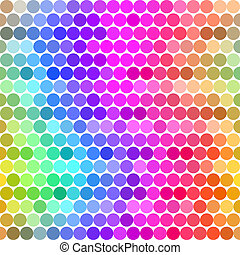 spectrum of colored dots - seamless texture with rounds in...