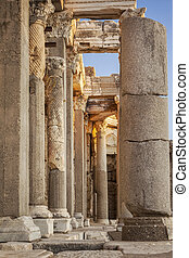 State agora pillars - Detail of pillars in the ancient state...