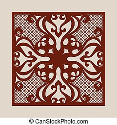 Template for laser cutting decorative pane - Oriental...