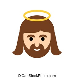 Jesus flat icon. Christ is the Son of God. Holy man