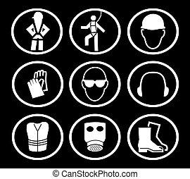 SÍMBOLOS, construção, segurança