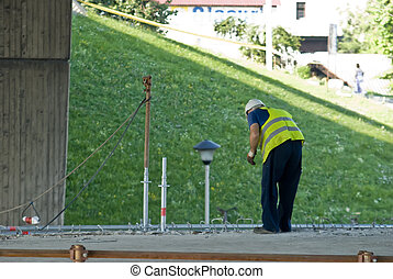 Building worker - A worker in the business