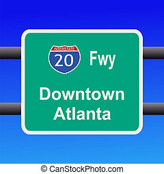 freeway to  Atlanta sign
