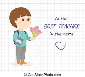 Happy teacher day card