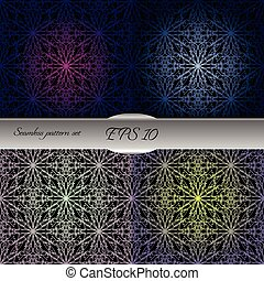 Set of lace-like seamless patterns