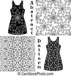 Seamless Floral Patterns, Contours