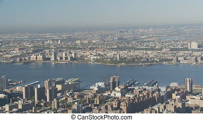 pan shot new york from empire state part II - pan shot new...