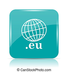 eu icon Internet button on white background