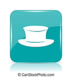 Hat icon Internet button on white background