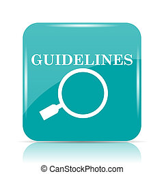Guidelines icon Internet button on white background