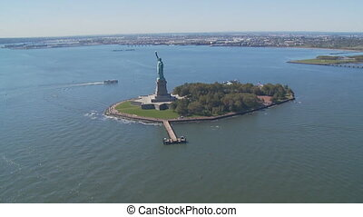 aerial view statue of liberty part V - aerial view upper...