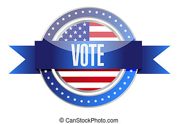 us vote seal illustration design graphic