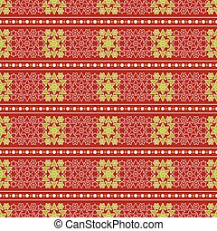 Christmas seamless wrapping paper - stars, flowers -...