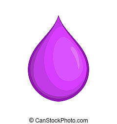 Drop oil icon, cartoon style - Drop oil icon in cartoon...