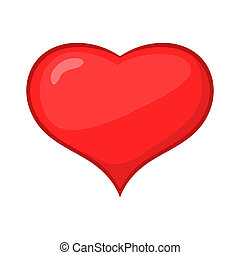Card suit hearts icon, cartoon style - Card suit hearts icon...