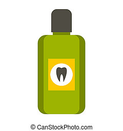 Mouthwash icon, flat style - Mouthwash icon in flat style...