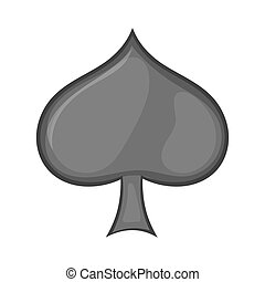 Card suit spades icon, cartoon style - Card suit spades icon...