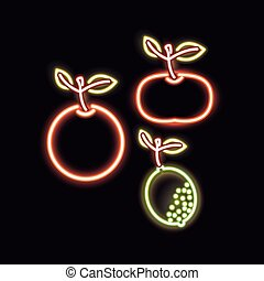 neon tangerine orange and lemon design - neon tangerine...