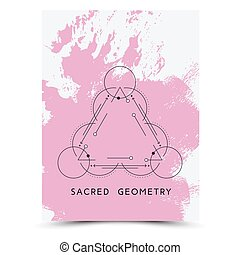 Vector illustration of a mystic sign - Vector geometric...