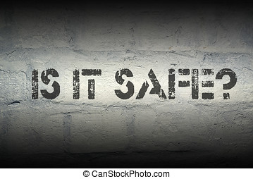 is it safe gr - is it safe stencil print on the grunge white...