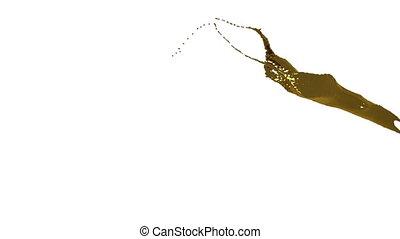 close-up view of gold splashing