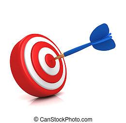 bullseye target concept 3d illustration - bullseye target 3d...