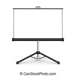 projection screen 3d illustration - projection screen 3d...