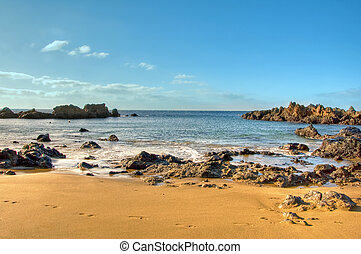 Lanzarote, Canary Islands, Spain - a view of a beach of...
