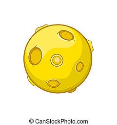 Moon icon, cartoon style - Moon icon in cartoon style...