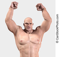 Raging Strongman - A strongman who is very mad and full of...
