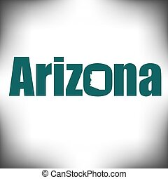 The Arizona shape is within the Arizona name in this state...