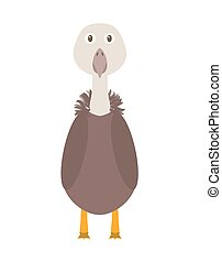 Funny vulture character - Vulture illustration as a funny...