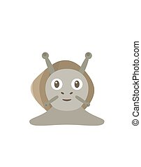 Funny snail character - Snail illustration as a funny...