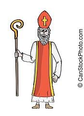 Saint Nicholas in bishop's clothing. Saint Nicholas as a...