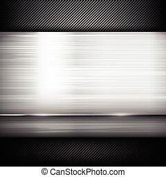 Abstract background dark and black carbon fiber with polish steel texture vector illustration 011