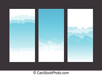 Nature background blue sky and cloud element vector illustration 001
