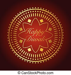 Beautiful gold ornament for Diwali celebration or festival of light