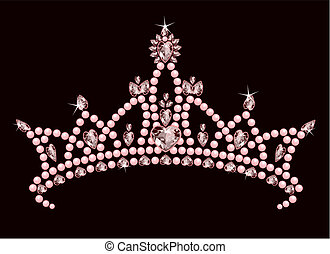 Princess Crown - Beautiful shining true princess crown
