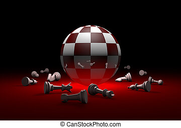 Deep relax (chess metaphor). 3D render illustration. Free...