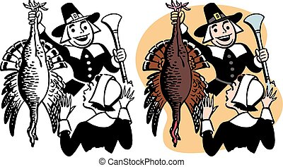 Pilgrim with Turkey