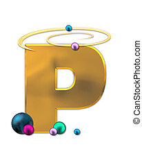 Alphabet Glowing Planets P - The letter P, in the alphabet...
