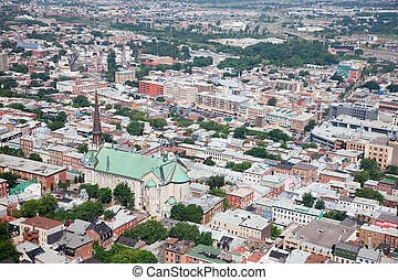 Elevated View of Quebec City, Canada - This is an elevated...
