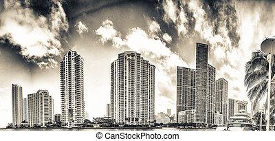 Downtown Miami at sunset, Florida
