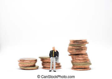 Concept of success business investment. Businessman standing...