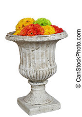 Large Pot with Artificial Flowers