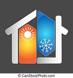 Air conditioning vector - Air conditioning at home for...