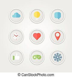 Different color icons collection