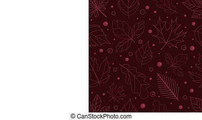 Autumn seamless vector pattern. Fall leaves collection