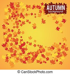 autumn background vector illustration - autumn abstract...