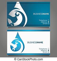 Business card for repair of plumbin